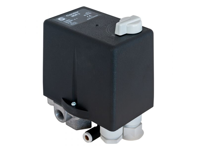 Pressostat Condor avec relais thermique 4 cv/3 kW 11 bar 6.3 A 1/2