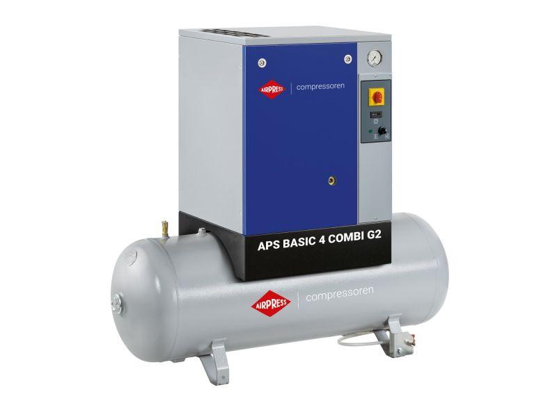 Compresseur à vis APS 4 Basic G2 Combi 10 bar 4 cv/3 kW 366 l/min 200 L