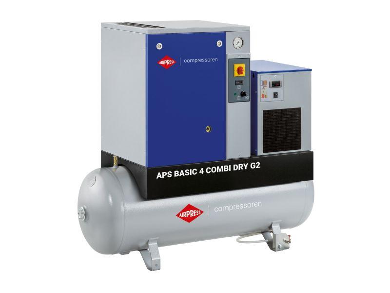 Compresseur à vis APS 4 Basic G2 Combi Dry 10 bar 4 cv/3 kW 366 l/min 200 L