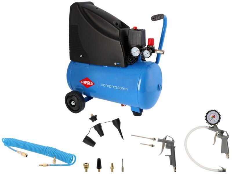 Compresseur HLO 215-25 8 bar 1.5 cv 172 l/min 24 L Plug & Play