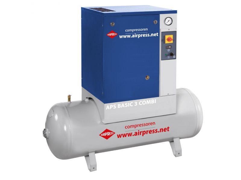 Compresseur à vis APS 3 Basic Combi 10 bar 3 cv/2.2 kW 240 l/min 200 L