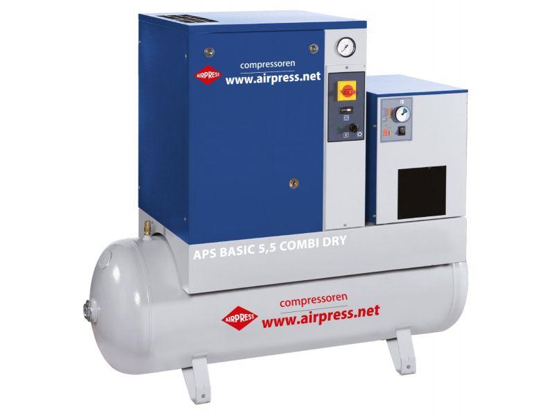 Compresseur à vis APS 5.5 Basic Combi Dry 10 bar 5.5 cv 470 l/min 200 l