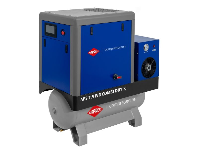 Compresseur à vis APS 7.5 IVR Combi Dry X Onduleur 10 bar 7.5 cv/5.5 kW 170-690 l/min 200 L