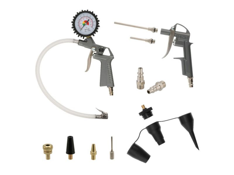 Kit d'accessoires pour gonfleur et pistolet à air 15 pièces
