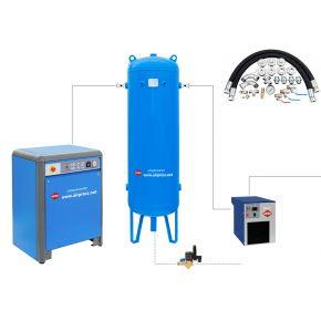 Kit complet d'installation pour réseau de distribution air comprimé APZ900/500/APX9/ACW