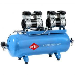 Compresseur Silencieux Sans Huile LMO 196X2-100 8 bar 3.2 ch/1.5 kW 240 l/min 100 L