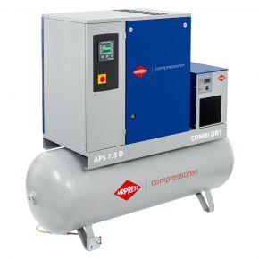 Compresseur à vis APS 7.5D Combi Dry 10 bar 7,5 cv 670 l/min 500 L
