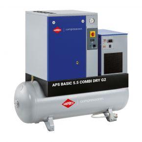 Compresseur à vis APS 5.5 Basic G2 Combi Dry 10 bar 5.5 cv/4 kW 516 l/min 200 L