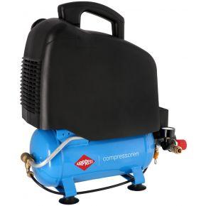 Mini Compresseur Silencieux Sans Huile LMO 6-165 8 bar 1 ch/0.74 kW 132 l/min 6 L