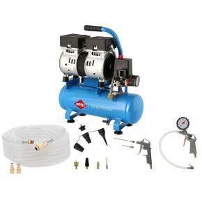 Mini Compresseur Silencieux Sans Huile L 6-105 8 bar 0,6 cv/0.45 kW 25 l/min 6 L Plug & Play