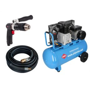 Compresseur HL 340-90 10 bar 3 cv/2.2 kW 272 l/min 90 L Plug & Play