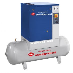 Screw Compressor APS 7.5 Basic Combi G2 10 bar 7.5 hp 600 l/min 200 l