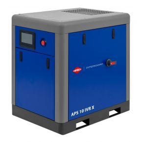Compresseur à vis APS 10 IVR X Onduleur 10 bar 10 cv/7.5 kW 270-950 l/min