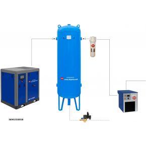 Kit d'installation à air comprimé APS 15 IVR X / 500 / 18