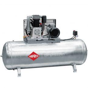 Compresseur G 1000-500 Pro 11 bar 7.5 ch/5.5 kW 698 l/min 500 L Cuve galvanisée