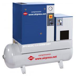 Compresseur à vis APS 7.5 Basic Combi Dry 10 bar 7.5 cv 600 l/min 200 L