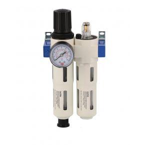 """Filtre huileur régulateur de pression 1200-1500 l/min 0-15 bar 5 microns 1/2"""" Femelle"""