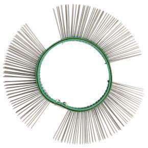 Brosse fils de fer fins 11 mm pour meuleuse à lamelles