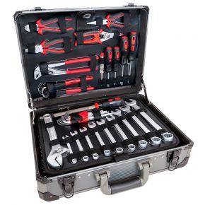 Coffret à outils en aluminium - 127 pièces Chrome Vanadium