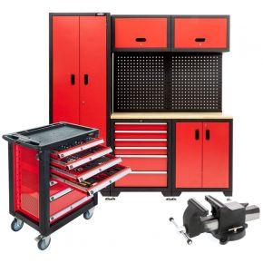Tout pour l'atelier : chariot à outils, meubles modulable et étau en acier (Plug & Play)