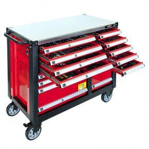 Servante d'atelier 16 tiroirs équipée de 447 outils à main - Professionnelle