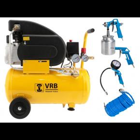 Compresseur 8LC24-1.5 VRB 8 bar 1.5 ch/1.1 kW 125 l/min 24 L Plug & Play