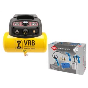 Mini Compresseur 8LC6-1.5 VRB 8 bar 1.5 cv/1.1 kW 129 l/min 6 L Plug & Play