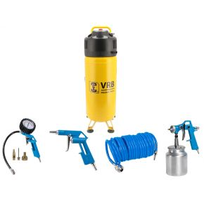 Compresseur Vertical 8LCV50-2.0 VRB 10 bar 2 cv/1.49 kW 166 l/min 50 L Plug & Play