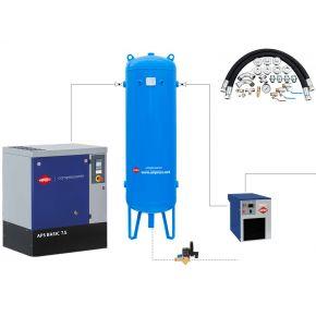 Kit complet réseau de distribution air comprimé APS7.5/500/APX9/ACW