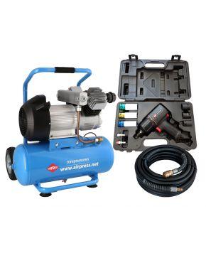 Compresseur LM 25-350 10 bar 3 cv 280 l/min 25 l Plug & Play