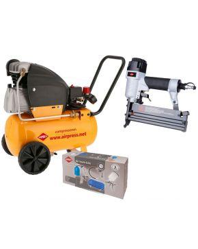 Compresseur HL 360-50 10 bar 2.5 CV 240 l/min 24L Kit DIY