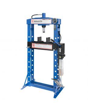 Presse hydraulique 20 tonnes 10 hauteurs 190 mm longueur de course pompe double