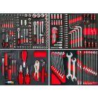 Module complet de 217 outils pour servante d'atelier
