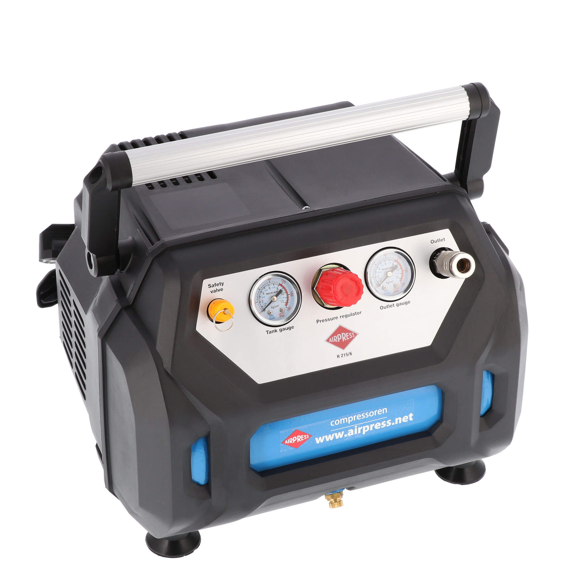 Compresseur sans huile H 215-6 8 bar 1,5 cv 92 l/min 6 L