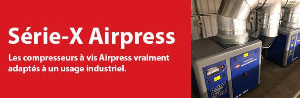 Compresseurs à vis de la Série-X Airpress