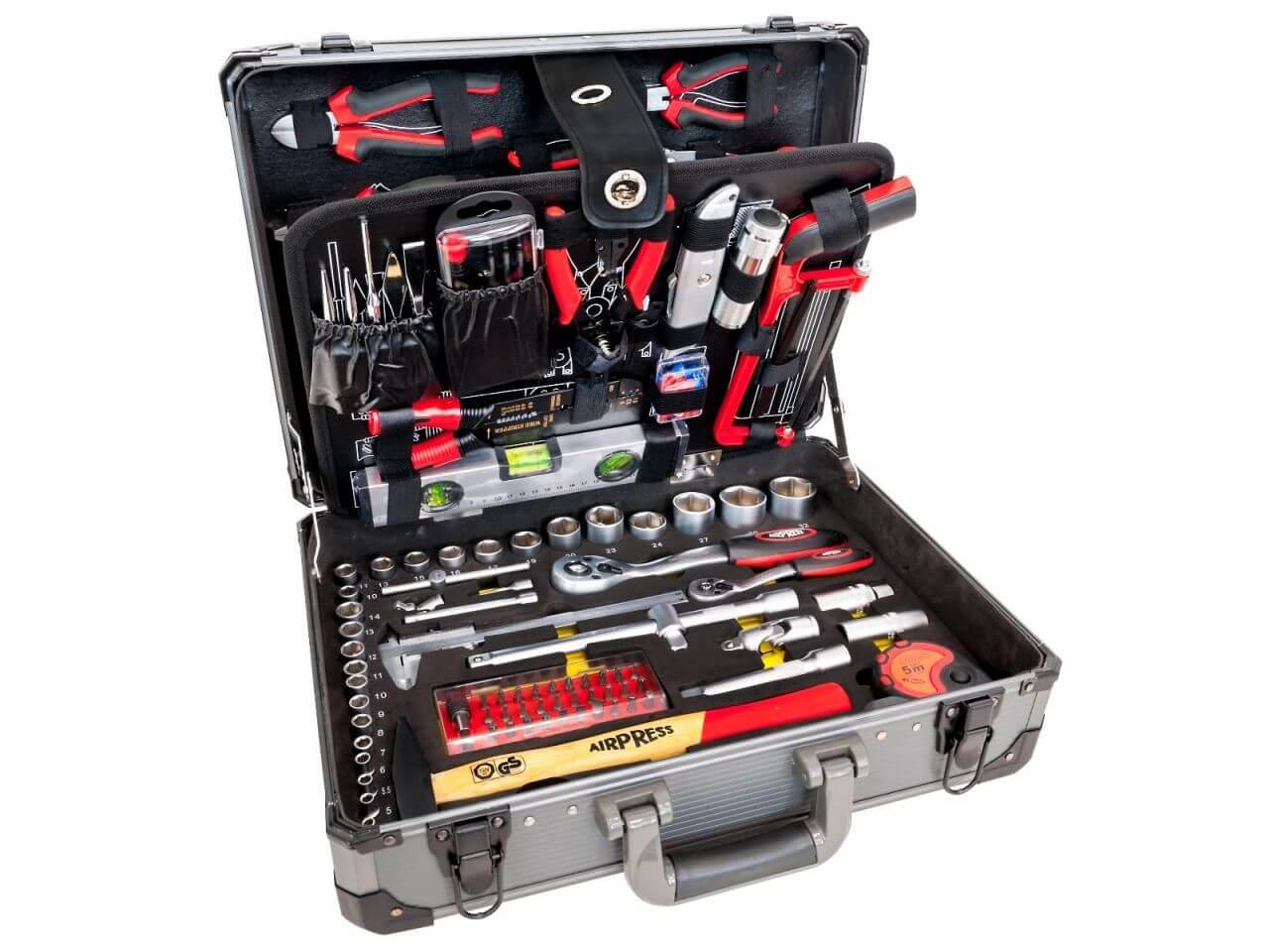 Coffret à outils en aluminium 127 pièces